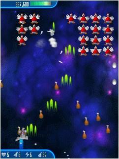 Java игра Chicken Invaders. Revenge Of The Yolk. Скриншоты к игре Куриные Захв
