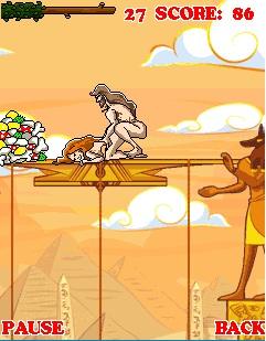 В этой игре Тарзану нужно собирать трусики, бюстгальтеры и конфеты. . Забе