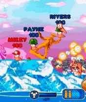 Java удовольствие Worms 0010. Скриншоты для игре Червячки 0010